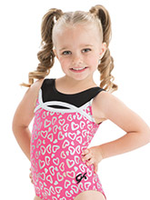 GKids Jazzberry Hearts Leotard from GK Gymnastics