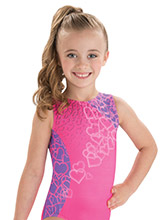 GKids Fluttering Hearts Leotard from GK Gymnastics