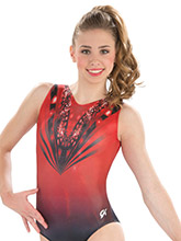 Scarlet Ombre Gymnastics Leotard from GK Gymnastics