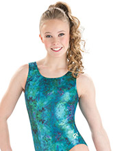 Blue Mystery Training Leotard from GK Gymnastics
