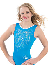 Nastia Liukin Blue Majesty Leotard from GK Gymnastics