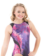 Nastia Liukin Berry Splash Leotard from GK Gymnastics
