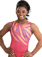 Sunrise Splash Simone Biles Leotard from GK Gumnastics