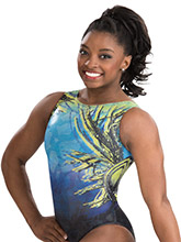 Simone Biles Tropic Thunder Leotard from GK Gymnastics