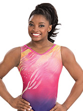 Simone Biles Berry Blaze Leotard from GK Gymnastics