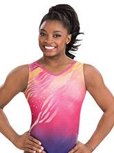 Simone Biles Berry Blaze Leotard from GK Gymnastics