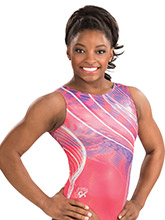 Simone Biles Coral Craze Leotard from GK Gymnastics