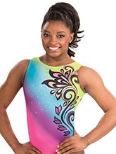 Simone Biles Boho Glam Leotard from GK Gymnastics