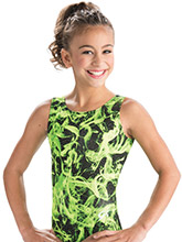 Glow Flame Workout Leotard from GK Gymnastics