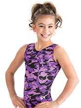 Grape Camouflage Training Leotard from GK Gymnastics
