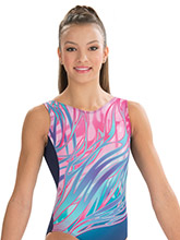 Navy Paradise Tank Leotard from GK Gymnastics