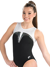 Black Tie Sparkle Tank Leotard from GK Gymnastics