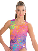 Tie Dye Shatter Workout Leotard from GK Gymnastics
