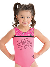 GKids Hot Coral Popstar Leotard from GK Gymnastics