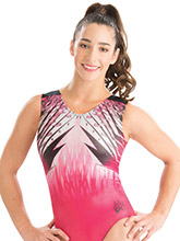 Aly Raisman Pink Force Leotard from GK Gymnastics