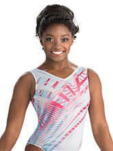 Simone Biles Optic Effect Leotard from GK Gymnastics