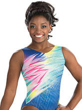 Simone Biles In a Flash Leotard from GK Gymnastics