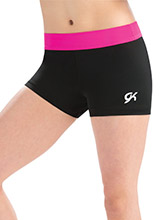 Cerise Camp Workout Shorts from GK Gymnastics