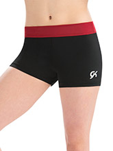 Scarlet Camp Workout Shorts from GK Gymnastics