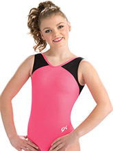 Hot Coral Camp Workout Leotard from GK Gymnastics