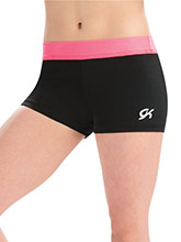 Hot Coral Camp Workout Shorts from GK Gymnastics