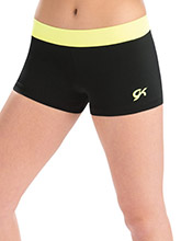 Day Glo Accent Workout Shorts from GK Gymnastics