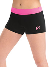 Neon Pink Accent Workout Shorts from GK Gymnastics