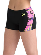 Camo Pop Workout Shorts from GK Gymnastics