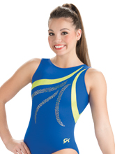 Lime Wave Tank Leotard from GK Gymnastics