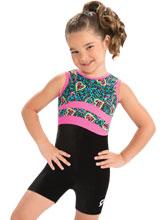 GKids Cheeky Cheetah Biketard from GK Gymnastics