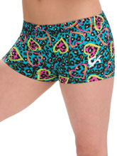 GKids Cheeky Cheetah Shorts from GK Gymnastics
