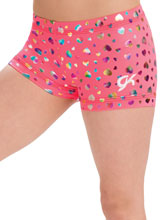 GKids Party Hearts Shorts from GK Gymnastics