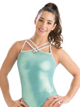 Aly Raisman Mint Racer Leotard from GK Gymnastics