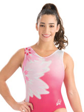 Aly Raisman Floral Blush Leotard from GK Gymnastics