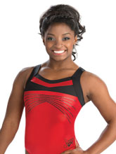 Simone Biles Power Red Leotard from GK Gymnastics