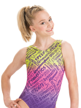 Gymnastics Graphic Tank Leotard from GK Gymnastics