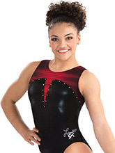 Laurie Hernandez Lady in Red Leotard from GK Gymnastics