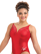 Laurie Hernandez Ruby Red Leotard from GK Gymnastics