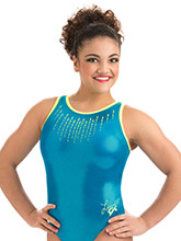 Laurie Hernandez Glo Girl Leotard from GK Gymnastics