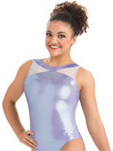 Laurie Hernandez Lilac Ice Leotard from GK Gymnastics