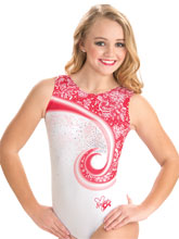 Nastia Liukin Peppermint Lace Swirl Tank from GK Gymnastics