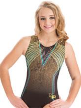 Nastia Liukin Lime Techno Tank from GK Gymnastics