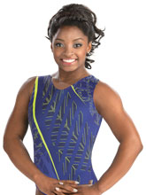 Simone Biles Abstract Orchid Tank from GK Gymnastics