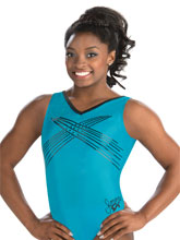 Simone Biles Turquoise Whimsy Tank from GK Gymnastics