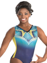 Simone Biles Radiating Ultramarine Leotard from GK Gymnastics