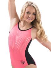 Nastia Liukin Coral Glam Tank Leotard from GK Gymnastics