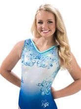 Nastia Liukin Aqua Lace Workout Leotard from GK Gymnastics