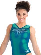 Laurie Hernandez Emerald City Tank Leotard from GK Gymnastics