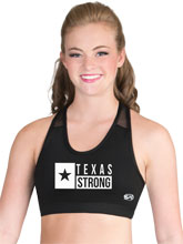 Texas Strong In Motion Cheer Crop Top from GK Elite