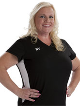 Women's V Neck Side Panel Tee from GK Elite